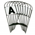 Rijbaan letters stekers